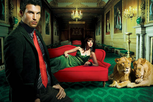 rich man with lions